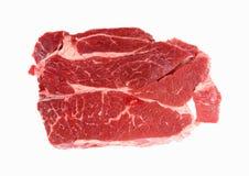 Chuck Steak Top View. A nice overhead view of a fresh cut chuck steak Royalty Free Stock Photo