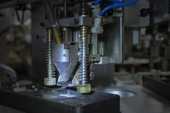 Chuck suite of automated machinery for assembly product heat sink. royalty free stock image
