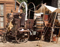 Chuck wagon. A fully dressed-out chuck wagon sits on Main street Royalty Free Stock Photos