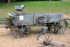 Chuck Wagon di legno anziano Fotografie Stock