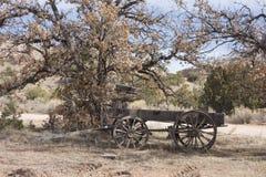 Chuck Wagon di legno anziano Fotografia Stock Libera da Diritti