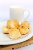 Chucream. Vanilla chucream on white dish Stock Image