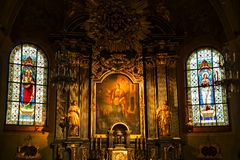 Chucrh interior of St Barbara in Krakow Poland Royalty Free Stock Image