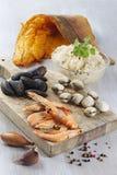 Chucrut francesa de los mariscos Foto de archivo