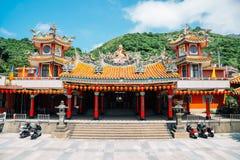 Chuen Ji Hall temple at Jinguashi, Taiwan. Chuen Ji Hall temple in Jinguashi, Taiwan stock images