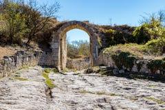 Chufut-cavolo Città-fortezza medievale nel della Crimea fotografia stock libera da diritti