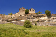 Chufut Kale, Karaim ancient rock fort Stock Images