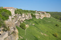 Chufut-Kale, Russia. Old village form the Middle ages Royalty Free Stock Photos