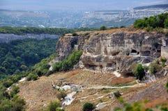 Chufut-Kale, tatar fortress in Crimea, Ukraine Stock Photo