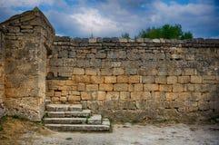 Chufut-Kale, tatar fortress in Crimea, Ukraine Stock Images