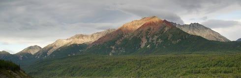 Chugach Mountains Near Highway 1 Alaska United Sta. Chugach Mountain Range Near Highway 1 Alaska United States North America royalty free stock photos