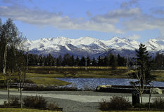 Chugach mountain range Royalty Free Stock Image