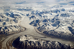 The Chugach Mountains from air Stock Photos