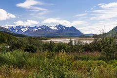 Chugach mountains in Alaska Stock Photo