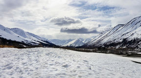 Chugach Mountains Hope Alaska Winter Royalty Free Stock Images