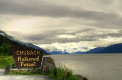Chugach national forest. Alaskan views of chugach national forest,Anchorage, Alaska, USA royalty free stock images
