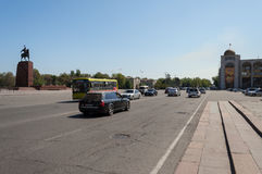 Chui avenue in Bishkek Royalty Free Stock Photo