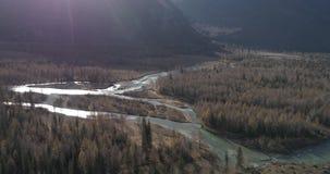 Chui område på solnedgången, Altai arkivfilmer