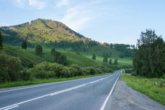 Chuiski road. Trekking in the Altai Mountains Stock Photo