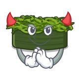 Chuka διαβόλων wakame στη μορφή χαρακτήρα διανυσματική απεικόνιση