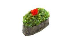Chuka-Meerespflanze Gunkan-Sushi Lizenzfreies Stockfoto