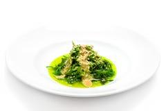 chuka Salat mit Erdnusssoße Lizenzfreie Stockfotos