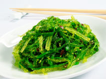 Chuka Seaweed Salad. Garnished with sesame seeds and red chili pepper Royalty Free Stock Photography