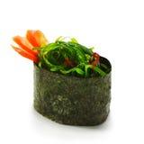Chuka Seaweed Sushi. Chuka Seaweed  Gunkan Sushi Garnished with Tomato Royalty Free Stock Images