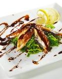 Chuka Seaweed with Unagi Salad Royalty Free Stock Photos