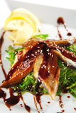 Chuka Seaweed with Unagi Salad Stock Photo