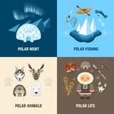 Chukchi Design Concept Set Royalty Free Stock Photo