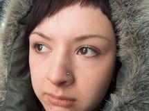 Chukchi Frau lizenzfreie stockfotos