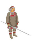 Chukchi reindeer breeder. The Chukchi reindeer breeder in winter national clothes vector illustration