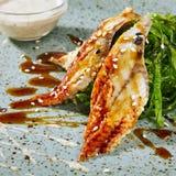 Chukka Unagi - insalata con il chuka delle alghe immagine stock