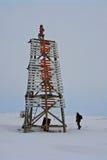 Chukotka artico. Vecchio faro. Fotografia Stock Libera da Diritti