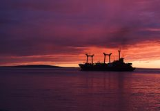 Chukotka. Juli. Mitternacht. Lizenzfreie Stockbilder