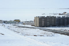 Chukotka Pevek - the northernmost city in Russia. Housing estate Stock Photo