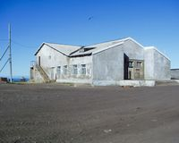 Chukotka stad, Chukchi landskapområden arkivbild