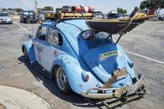 Chula比斯塔,加利福尼亚- 2017年7月30日:毗邻Treffen `的第19个每年空降阵地Parts/KGPR Hwy1边界加拿大对墨西哥巡航` a 免版税库存照片