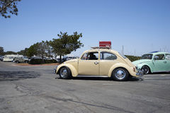 Chula Vista, California - July 30, 2017: 19th Annual Airheads Parts/KGPR Hwy1 Border to Border Treffen `Canada to Mexico Cruise` a. German car enthusiasts gather royalty free stock photo