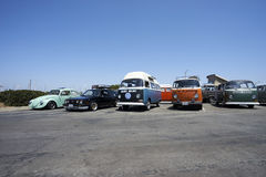 Chula Vista, California - July 30, 2017: 19th Annual Airheads Parts/KGPR Hwy1 Border to Border Treffen `Canada to Mexico Cruise` a. German car enthusiasts gather royalty free stock images