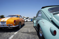 Chula Vista, California - July 30, 2017: 19th Annual Airheads Parts/KGPR Hwy1 Border to Border Treffen `Canada to Mexico Cruise` a. German car enthusiasts gather royalty free stock image