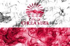 Chula Vista city smoke flag, California State, United States Of. America Stock Photo