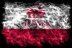 Chula Vista city smoke flag, California State, United States Of. America Royalty Free Stock Images