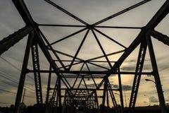 Chulachomklao-Brücke in Thailand Lizenzfreie Stockfotos