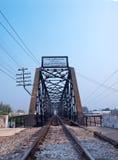 Chulalongkorn Bridge. Cross over Mae Klong River in Ratchaburi, Thailand Stock Photography