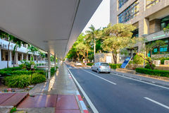 Chulalongkorn University campus on sunset. Bangkok, Thailand - May 12, 2016: Chulalongkorn University campus on sunset, Front of Faculty of Science Stock Photo