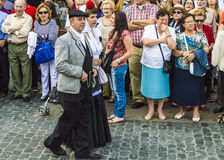 Chulapos en Madrid Stockfoto
