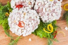 Chuleta de las albóndigas con las hierbas Fotografía de archivo libre de regalías