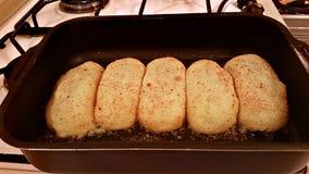 Chuletas de la patata con las setas Imagen de archivo libre de regalías